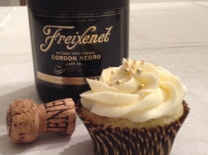 Champagne Cupcakes with Champagne Frosting