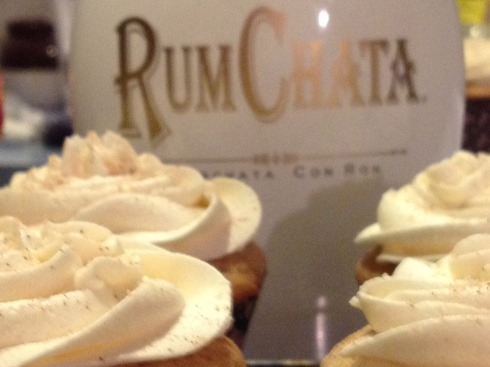 Snickerdoodle Cupcakes with RumChata Frosting