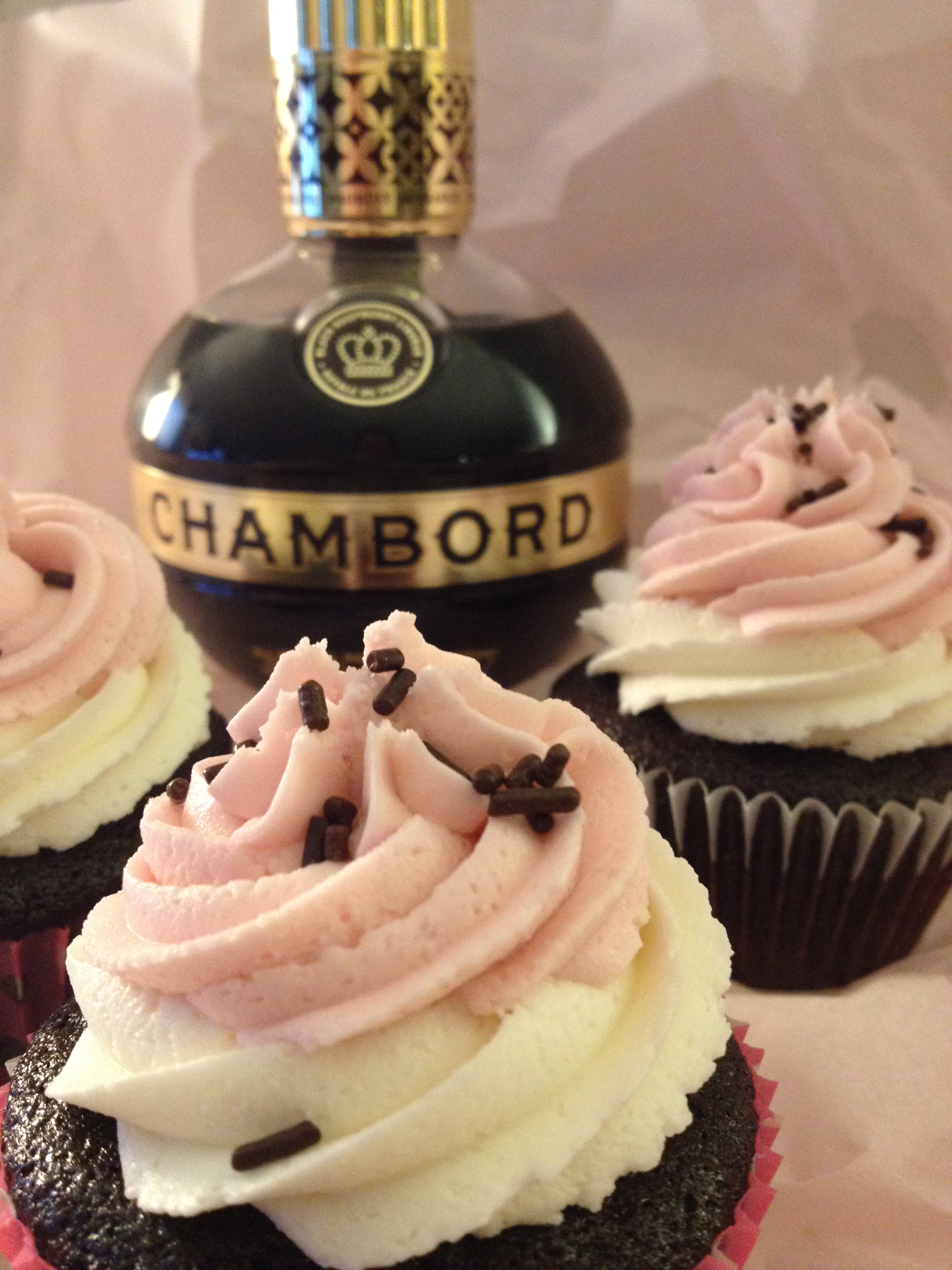 Chambord Cupcakes Recipe — Dishmaps