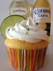 Corona Cupcakes with Tequila Lime Buttercream